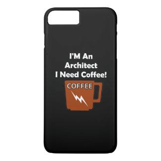 Eu sou um arquiteto, mim preciso o café! capa iPhone 7 plus