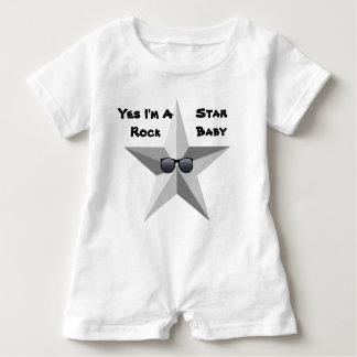 Eu sou um bebê da estrela do rock, Romper do bebê Tshirt