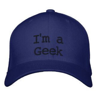 Eu sou um chapéu do geek boné bordado