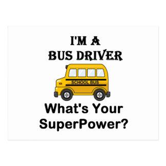 Eu sou um condutor de autocarro, o que sou sua cartão postal