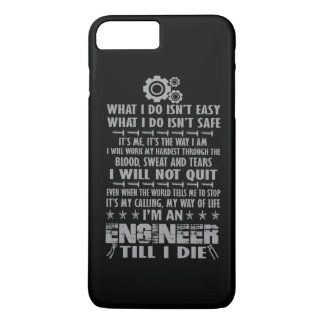 Eu sou um engenheiro até mim morro capa iPhone 7 plus