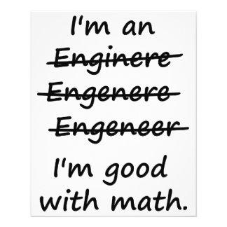Eu sou um engenheiro que eu sou bom na matemática flyer 11.43 x 14.22cm