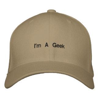 Eu sou um geek boné bordado