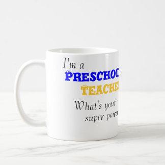 Eu sou uma caneca pré-escolar do professor