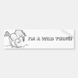Eu sou uma coisa selvagem adesivo