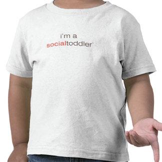 Eu sou uma criança social unisex tshirts
