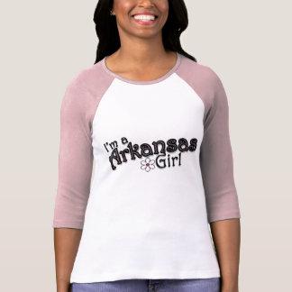 Eu sou uma menina de Arkansas, flor, t-shirt