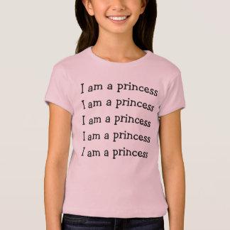 Eu sou uma princesa camisetas
