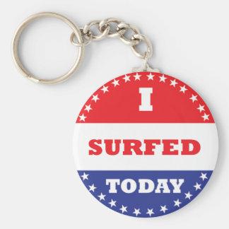Eu surfei hoje chaveiro