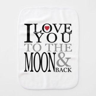 Eu te amo à lua e à parte traseira paninho de boca