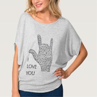 EU TE AMO a mulher drapeja a parte superior T-shirts