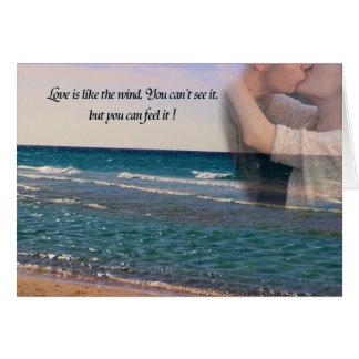 Eu te amo cartão de nota