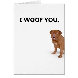 Eu te amo cartão do cão