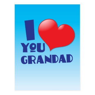 Eu te amo cartões do grandad