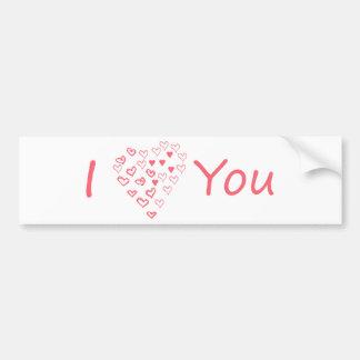 Eu te amo! design original e bonito! adesivo para carro