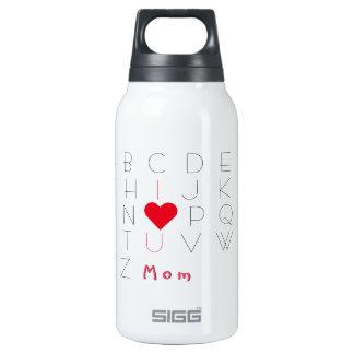Eu te amo garrafa do aniversário do dia das mães