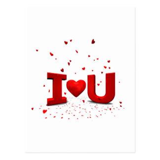 Eu te amo - I love you Cartão Postal