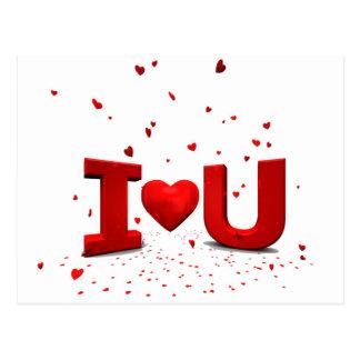 Eu te amo - I love you Cartao Postal