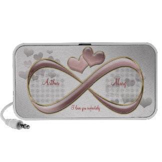 Eu te amo infinita corações cor-de-rosa do dia dos caixinhas de som para pc
