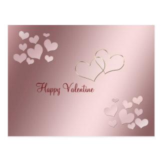Eu te amo infinita corações cor-de-rosa do dia dos cartões postais