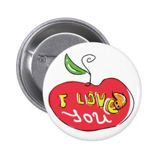 Eu te amo maçã com botão do sem-fim boton