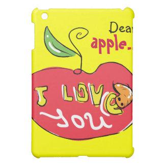 Eu te amo maçã com exemplo do sem-fim capa iPad mini