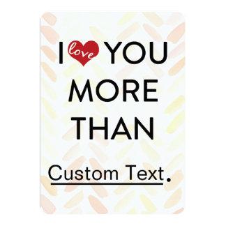 Eu te amo namorados mais do que engraçados convite 12.7 x 17.78cm