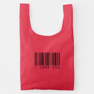 Eu te amo saco reusável