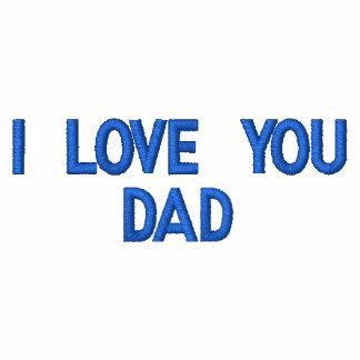 Eu te amo t-shirt bordado pai do polo