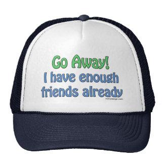 Eu tenho bastante humor dos amigos já boné