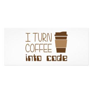Eu transformo o café no código de programação 10.16 x 22.86cm panfleto