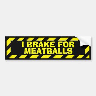 Eu travo para a etiqueta amarela do cuidado dos adesivo para carro