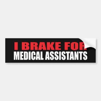Eu travo para assistentes médicos adesivo para carro