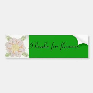 Eu travo para flores adesivo