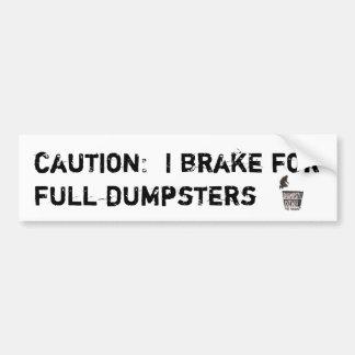Eu travo para o bumpersticker completo dos content adesivo para carro