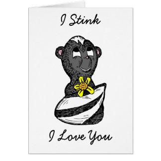 """Eu """"tresando"""" eu te amo, cartão engraçado da"""