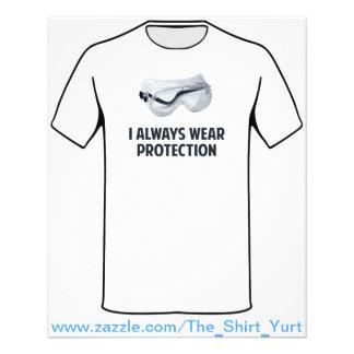 Eu uso sempre a proteção panfletos