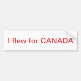 Eu voei para Canadá Adesivo Para Carro