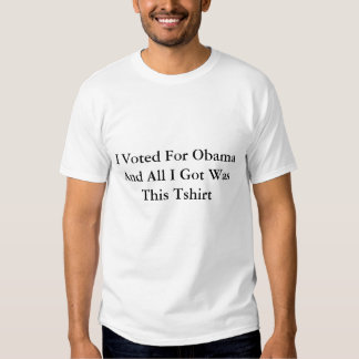 Eu votei para Obama e tudo I Got era este Tshirt