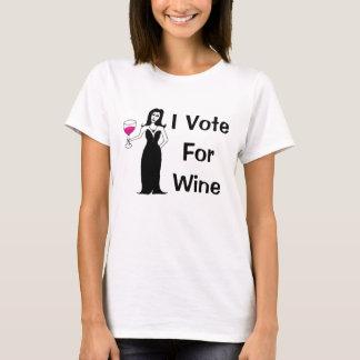 Eu voto para o vinho tshirt