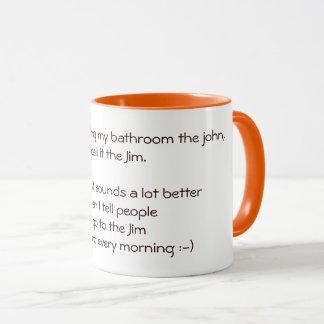 Eu vou à caneca de café engraçada do chá da piada