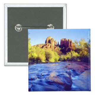 EUA, arizona, Sedona. Rocha da catedral que reflet Bóton Quadrado 5.08cm
