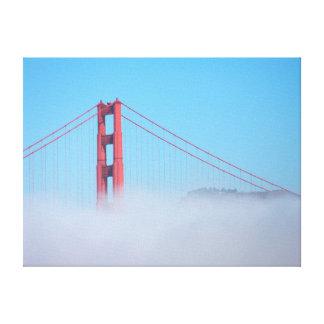 EUA, Califórnia. Golden gate bridge na manhã Impressão Em Tela Canvas