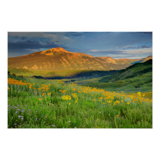 EUA, Colorado, montículo com crista. Paisagem 2 Poster