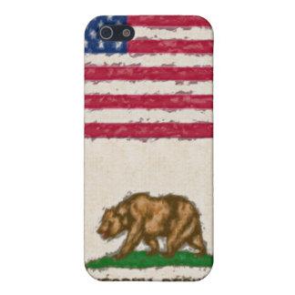 EUA e bandeiras impressionista 4 de Califórnia Capas iPhone 5