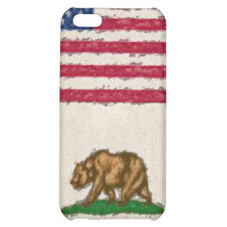 EUA e bandeiras impressionista 4 de Califórnia Capa Para iPhone5C