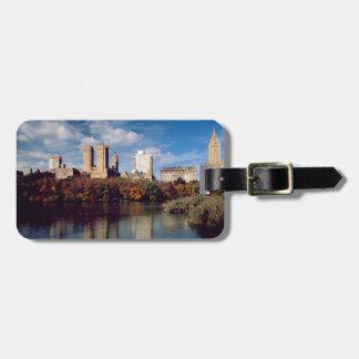 EUA, Nova Iorque, Central Park, lago Tags De Bagagens
