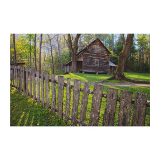 EUA, Tennessee, cabine na angra de Cades Impressão Em Tela