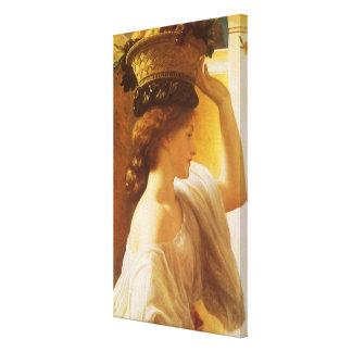 Eucharis - menina com uma cesta da fruta por