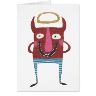 Eugene o diabo pequeno cartão